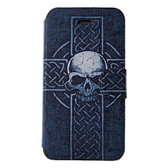 Cool Skulls Pattern PU Full Body Case with Card Slot for iPhone 4/4S