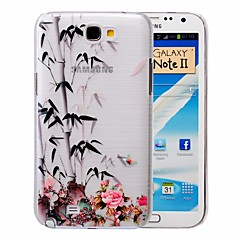 Chinese Bamboo Pattern PC Brushed Case for Samsung Galaxy Note 2 N7100