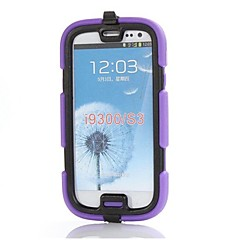 Waterproof Tough Defender Series Rugged Impact Back Cover with Detachable Clip  for Galaxy S3(Assorted Colors)