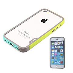 couleur double pare-chocs en silicone souple cadre nouvel arrivant de luxe pour iPhone 5 / 5s (couleurs assorties)