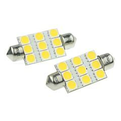 Pinol Bil Hvid 3W SMD LED 3000-3500 Læselampe Nummerpladelys Lampe Sidemarkerings Lys Dørlampe Spotlys Høj Output