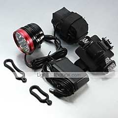 LT-061 3Mode   6x CREE XM-L T6 LED  Bike  Headlamp (9000LM.1X18650.Black)