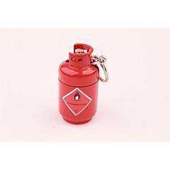 metallo creativo mini bottiglia di gas ciondolo accendino rosso