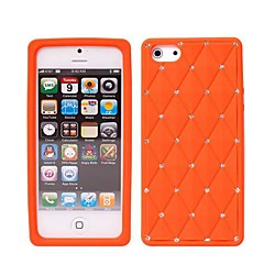 Newest Luxury Bling Crystal Diamond Starry Silicone Back Cover Case for iPhone 4/4S(Assorted Colors)