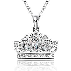 Dames Kubieke Zirkonia Bergkristal Enkele Draad Ronde vorm Sterling zilver Kostuum juwelen Sieraden Voor