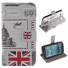 concepção selo de couro pu caso protetor de corpo inteiro com suporte para Samsung Galaxy S3 i9300