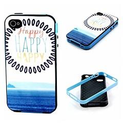 heureux modèle de couverture de cas pour iphone4 / 4s