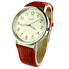Damen Armbanduhren für den Alltag Quartz PU Band Blume Schwarz Rot Braun