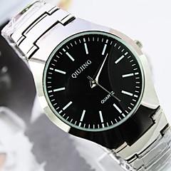 Men's Round Dial Steel Strip Band Quartz Fashion Watch