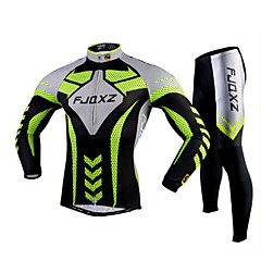 FJQXZ® Cycling Jersey with Tights Men's Long Sleeve Bike Breathable / Quick Dry / Ultraviolet Resistant / 3D PadTights / Jersey +