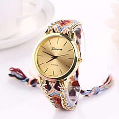 Women Big Circle Dial  National Hand Knitting Brand Luxury Lady Watch C&D-280
