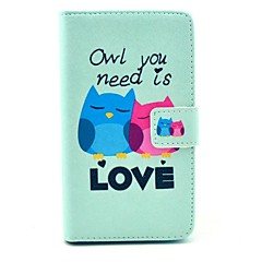 For Wallet / Card Holder / with Stand / Flip Case Full Body Case Owl Hard PU Leather Sony Xperia M35H