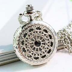 Women's White And Elegant Dial Alloy Band Quartz Necklace Watch