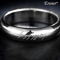 Titanium Steel Bright Silver Ring
