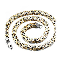 Ékszerek Nyakláncok Esküvő / Parti / Napi / Hétköznapi / Sport Titanium Acél / Arannyal bevont Férfi Aranyozott / Ezüst Esküvői ajándékok