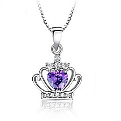 925 Sterling Silver Fashion Queen Princess Nightmare Deng Crown Pendant