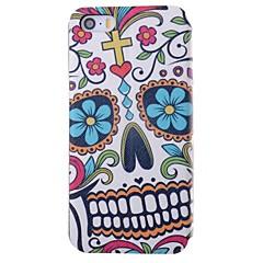 flores e caveiras padrão caso de corpo inteiro pu com slot para cartão de iPhone 5 / 5s