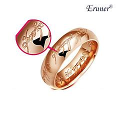 anillo de acero inoxidable del oro eruner®rose (diferentes tamaños)