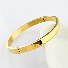 Fashion 19CM High Polished 3 Color 316L Stainless Steel Bangle