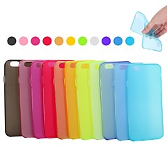 xundd slijpen kruimelig frisse kleur TPU ultradunne zachte achterkant voor iPhone 6s 6 plus