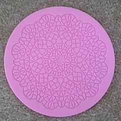 ronde kant fondant cake chocolade siliconen mal cupcake taart decoratie gereedschappen, l12.7cm * w12.7cm * h0.5cm