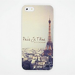 Tower Pattern PC Leather Back Cover Case for iPhone 5/5S