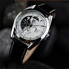 mænds dobbelt hule boutique cirkulære læder mekanisk ur automatiske mekaniske ure (assorterede farver)