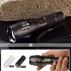Zoomable Focus LED Flashlight 5 Mode 2000 LM CREE XM-L T6 (18650,Battery Charger)