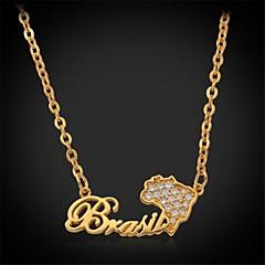 Golden / Silver Choker Necklaces / Pendant Necklaces / Collar Necklaces / Vintage Necklaces / PendantsZircon / Copper / Platinum Plated /