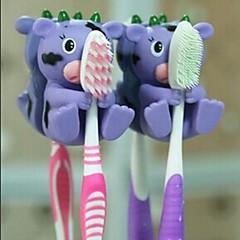 1 st djur form hängande tandborste innehavare (slumpmässig färg)