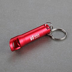 blnmax mini mode imperméables portables conduit porte-clés (100LM, rouge)