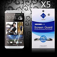 hd protecteur d'écran avec la poussière-absorbeur pour HTC One / M7 (5 pièces)