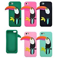 a nova capa mole moda pica-pau de silicone para iPhone 5 / 5s (cores sortidas)