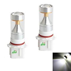 hj p13w 30W 2600lm 6000-6500k 6x2835 SMD LED'er hvidt lys pære til bil tågelygte (12-24V, 2 stykke)