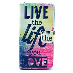 Live Life You Love Pattern PU Leahter Full Body Cover with Stand and Card Slot for Sony Xperia Z3 Compact / Z3 mini
