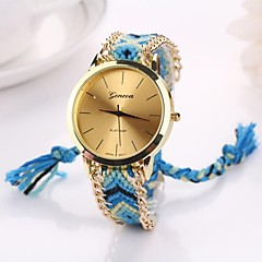 Women Big Circle Dial  National Hand Knitting Brand Luxury Lady Watch C&D-282