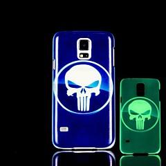 Schädel-Muster im Dunkeln leuchten Hartschalenetui für Samsung Galaxy i9600 s5