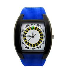 Masculino Relógio Esportivo Quartz Impermeável Silicone Banda Preta / Branco / Azul / Vermelho / Amarelo