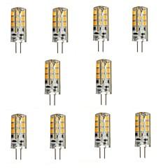 3W G4 LED-lamper med G-sokkel 24 SMD 2835 270 lm Varm hvit DC 12 V 10 stk.