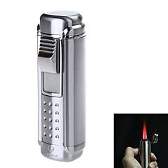 4705スタイリッシュな4-炎懐中電灯スタイルの亜鉛合金防風ブタンガスライター(アソートカラー)