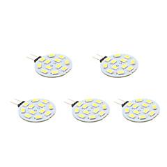 2W G4 LED-spotlights 12 SMD 5630 170 lm Varmvit AC 12 V 5 st