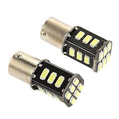 1156 9W 18 * 5730 SMD luz 350-380lm 6500k levou bulbo de luz de freio do carro (DC 12V)