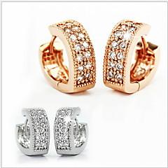 925 Sterling Silver lovely Double Diamond V Word Heart-Shaped Ear cCip Earrings