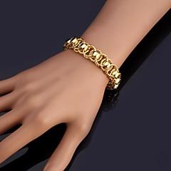 U7® New Bracelet Bangle 18K Real Chunky Gold Platinum Plated Bangle 12MM 21CM Jewelry Christmas Gifts