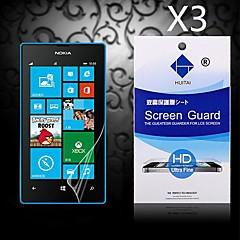 protetor de tela hd com pó absorvente para nokia lumia 520/525 (3 peças)