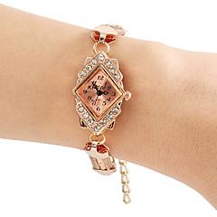 kvinders rhombus Diamant taske redskaber stil legering band quartz armbånd ur