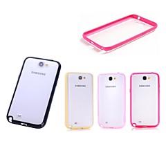 xundd jauhaa arenaceous tuore väri läpinäkyvä luistamaton kova takakannen Samsung Galaxy Note 2 (valikoituja värejä)