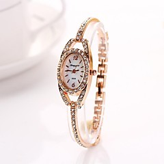 Women's   Golden  Ellipse Diamante Dial Diamnete   Alloy Quartz Wristwatches  C&d223