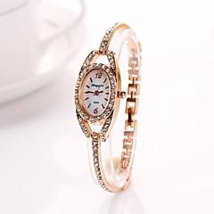 das mulheres de ouro diamante elipse relógios de pulso de quartzo liga diamnete marcação c&D223