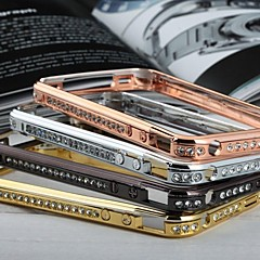 Doopootoo™ Luxury Bling Crystal Metal Bumper Frame Case Cover For iPhone 4/4S (Assorted Colors)